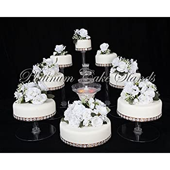 Amazon.com | PLATINUMCAKESTAND 8 Tier Cascade Wedding Cake Stand ...