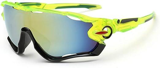 Óculos De Sol Bike Ciclismo Esportivo Proteção Uv Espelhado (Amarelo)