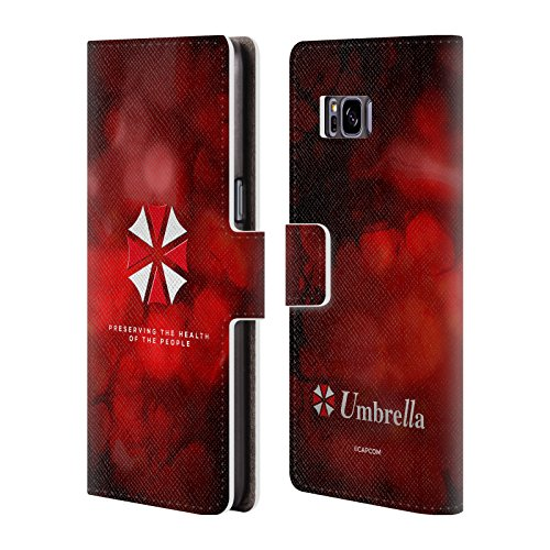 Official Resident Evil Umbrella Logo Leather Book Wallet Case Cover for Samsung Galaxy S8