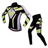docooler Quick Dry Breathable Bike Bicycle Mountain Biking Unisex Cycling Jersey Pants Tights Clothing Sets Suits Long Sleeve Outdoor Sports