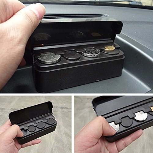 Topseller Car Coin Holder, Loose Change Storage Box Car Coin Case Money Wallet Bank Holder