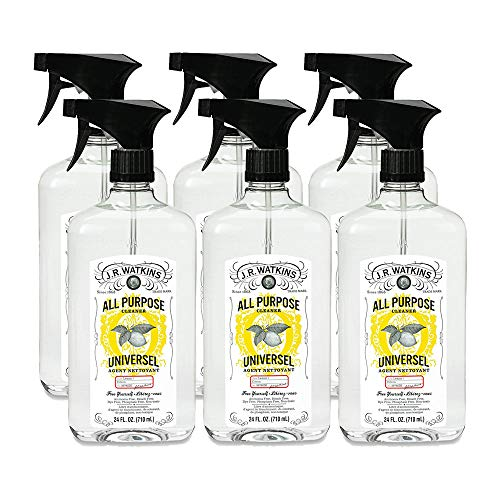 J.R. Watkins All Purpose Cleaner, 24 fl oz, Lemon (6 pack)