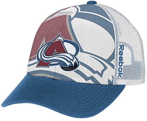 Player White Reebok (Colorado Avalanche Reebok NHL 2014 Adjustable Official Player Draft Hat)