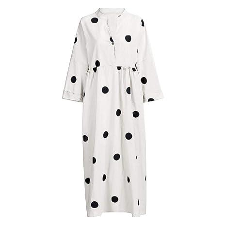Vestido de verano para mujer, estilo bohemio, con tres ...