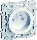 Schneider Electric SC5S52A059 Prise de courant avec terre 2 P+T avec éclipses Odace 230 V Blanc