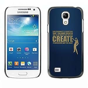 LECELL -- Funda protectora / Cubierta / Piel For Samsung Galaxy S4 Mini i9190 MINI VERSION! -- Your Personality Deep Message --