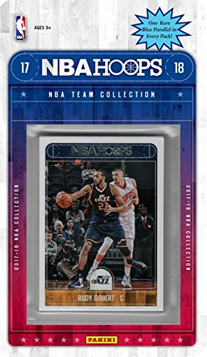 fan products of Utah Jazz 2017 2018 Hoops NBA Licensed Basketball Brand New Factory Sealed 8 Card Team Set with Rudy Gobert Ricky Rubio Donovan Mitchell Rookie Plus