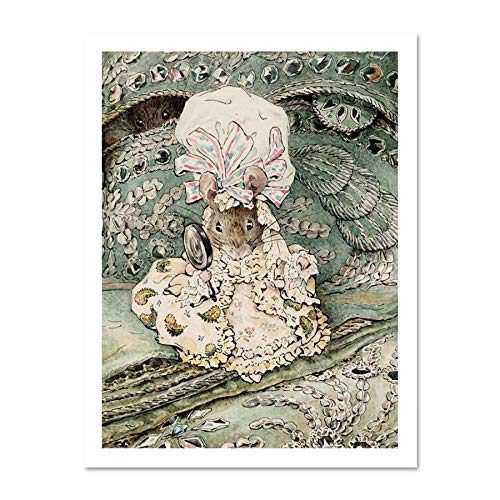 - Doppelganger33 LTD Helen Beatrix Potter Lady Mouse in Mob Cap Art Picture Large Framed Art Print Poster Wall Decor 18x24 inch Supplied Ready to Hang