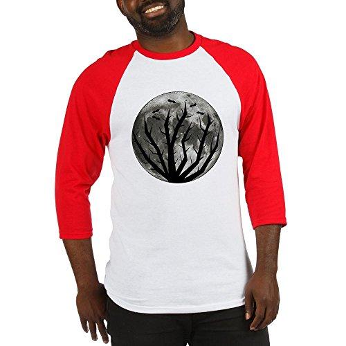 CafePress - Halloween Moon Baseball Jersey - Cotton Baseball Jersey, 3/4 Raglan Sleeve (Moon Baseball Jersey)