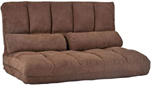 JIANGNI JN-Furnitures Double Chaise Lounge Floor Couch Sofa with Two Pillows Home Living Room Sofa Furnitures