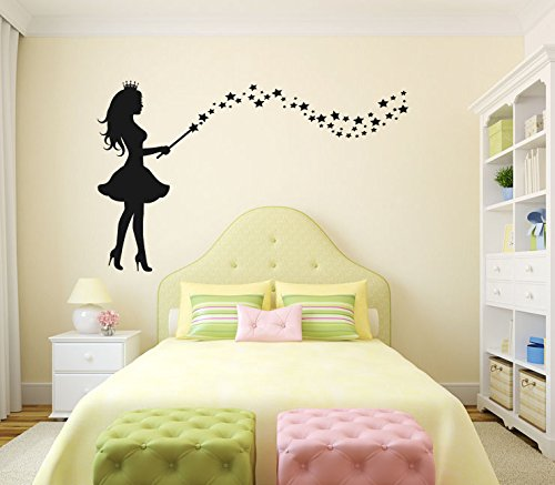 Stars Silhouette with Optional Custom Monogram Name Vinyl Wall Words Decal Sticker Graphic ()