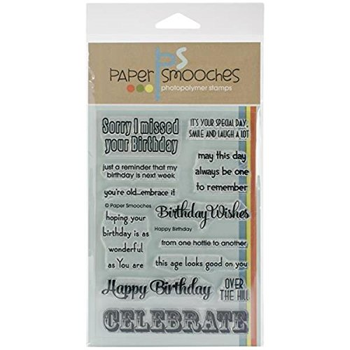 Paper Smooches Clear Stamps, 4 by 6-Inch, Happy (Happy Birthday Clear Stamp)