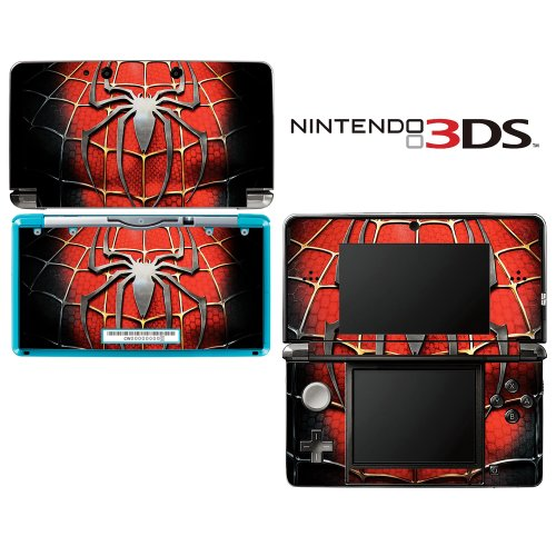 Spiderman Decorative Video Game Decal Cover Skin Protector for Nintendo 3Ds (not 3DS XL) (Amazing Spiderman 3ds Game)