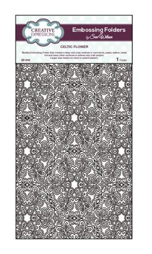 Creative Expressions Embossing Folder, Large Celtic Flower EF-016