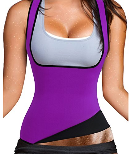 Some Like It Hot Costumes (Sweating Burning Fat Tank Top Hot Slimming Neoprene Sauna Shapewear Vest to Lose Weight (L, US 12-14, Purple Top Vest))