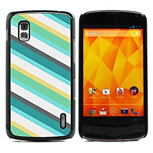 Graphic4You BLUE STRIPES PATTERN HARD CASE COVER FOR LG Nexus 4