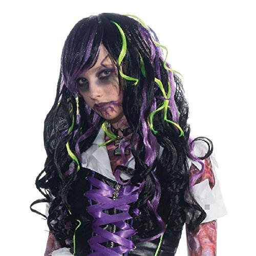 Rocker Zombie Adult Wig (Zombie Rocker Wig Costume Accessory Kids Halloween)