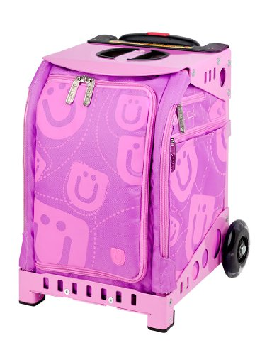 Zuca Mini Smile Insert/Pink Frame includes Pink Snack Pouch / (Roll Skate Backpack)