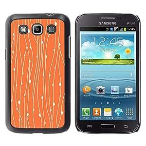 For Samsung Galaxy Win / I8550 / I8552 / Grand Quattro Case , Rustic Orange Floral Wallpaper - Diseño Patrón Teléfono Caso Cubierta Case Bumper Duro Protección Case Cover Funda