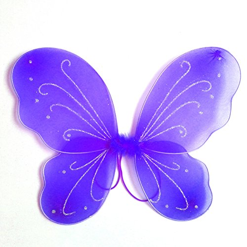 MiyaSudy Girl's Butterfly Fairy Wings Fancy Dress-up Angel Wings Halloween Birthday Party -