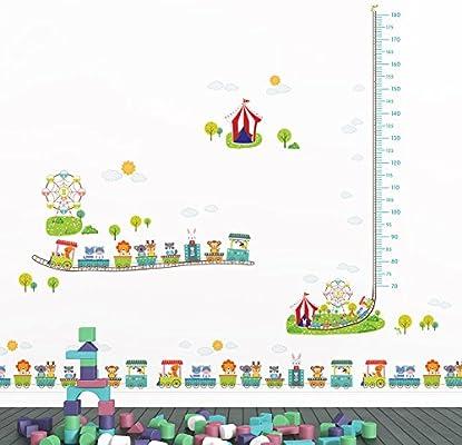 Etiqueta de la pared Mono Juegos Infantiles de Dibujos Animados Dormitorio de Vivero Tv Fondo de Pared Etiqueta Manitas Etiqueta de Altura Etiqueta de La Pared: Amazon.es: Bricolaje y herramientas