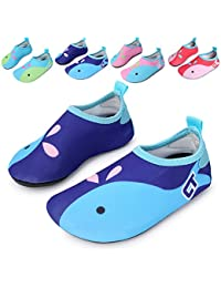 Kids Swim Water Shoes Barefoot Aqua Socks Shoes for Beach...