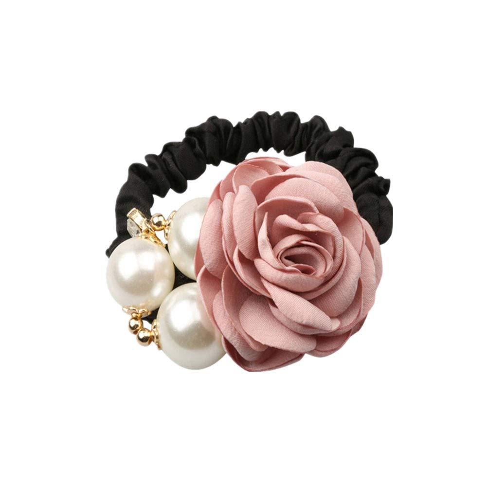 Fashion Women Hair Rope Rhinestone Eight-Shaped Rubber Band Cross Gift Jewelry