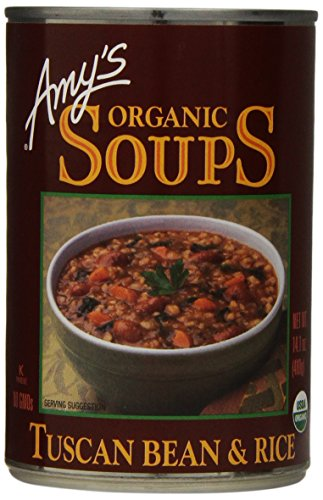 Amy's Organic Soups, Tuscan Bean & Rice, 14.1 Ounce (Pack of 12)