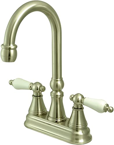 Kingston Brass KS2498PL Governor Bar Faucet Without Pop-Up, 5-Inch, Brushed Nickel