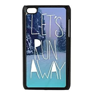 Lets Run Away Personalized Case for Ipod Touch 4, Customized Lets Run Away Case