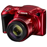 Canon PowerShot SX420 IS (Red) with 42x Optical Zoom and Built-In Wi-Fi