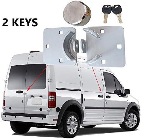 OKLEAD - Cerradura antirrobo para puerta de furgoneta, garaje, cobertizo, cerradura para puertas laterales y traseras de furgonetas, dispositivo de seguridad, 2 llaves: Amazon.es: Coche y moto