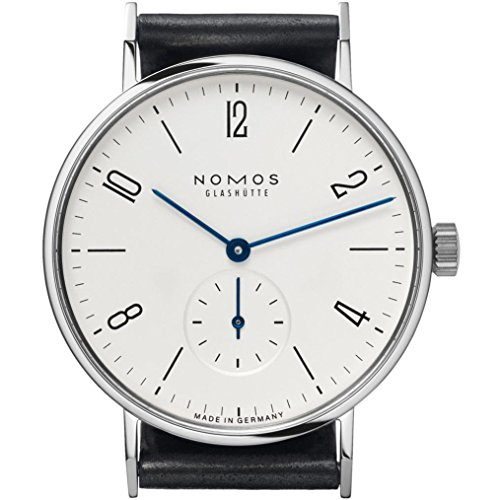 Nomos Tangente Galvanized White Dial Leather Unisex Watch 139