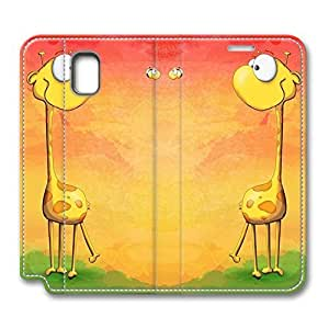 Brian114 Samsung Galaxy Note 3 Case, Note 3 Case - Design Leather Folio Stand Flip Cover Case for Samsung Note 3 Giraffe With Bee Protective and Light Carrying Cover for Samsung Galaxy Note 3