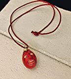 Berserk Behelit Shoku 2012 Version Pendant Necklace w/ Red Leather Strap