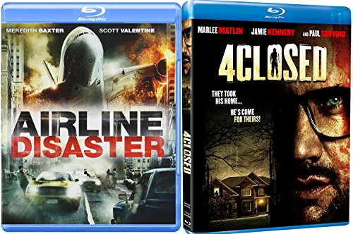 4closed & Airline Disaster [Blu-ray] Horror Thriller Movie Set