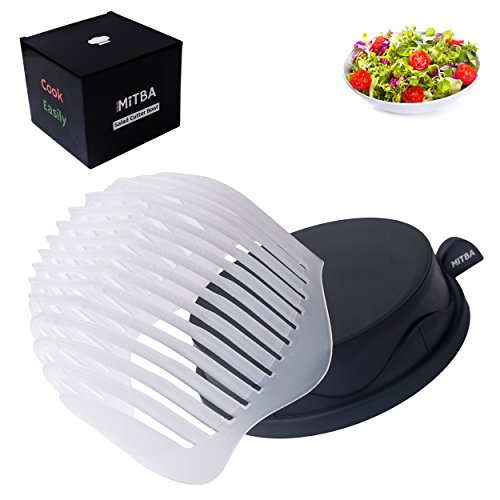 Gadgets Salad Spinner (Salad Cutter Bowl by MiTBA – Your Favorite Vegetables & Fruits Chopped in Just 60 Seconds! Cutting board + Strainer in One Product, This Chopper Will Make You Eat Healthy Food! 150% Size, B&T Color)