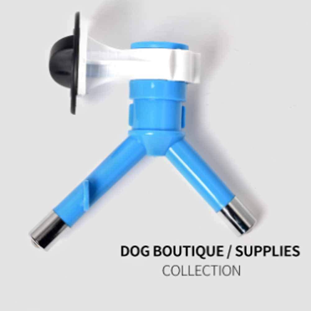 XIAOAN Pet Water Dispenser Water Bottles Pet Watertight Dog and Dog Water Dispenser Hangable Double Pet Drinking Water Head