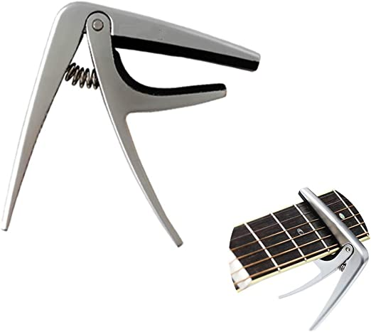 Crown Guitarra de Metal de Aluminio Ultraligero Capo Zinc Metal ...