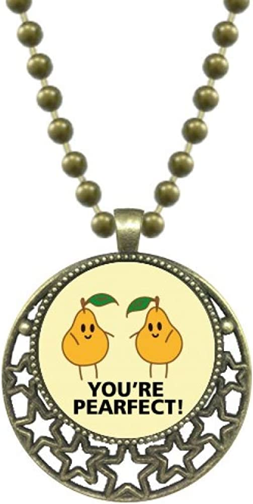 OFFbb-USA Pear Fruit Perfect Praise Pendant Star Necklace Moon Chain Jewelry