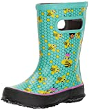 kids bee rain boots - Bogs Skipper Kids Waterproof Rubber Rain Boot for Boys and Girls, Bees Print/Turquoise/Multi, 8 M US Toddler