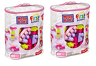 Mega Bloks First Builders Big Building Bag, 80-Piece | Computers And Accessories