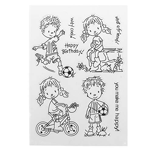 Templates Craft Card (ShapeW Happy Birthday Clear Stamps for Card Making,Clear Stamps Cutting Dies Transparent Stamps for Scrapbooking DIY Embossing Folder Template Crafts Card Album Creative Gift)
