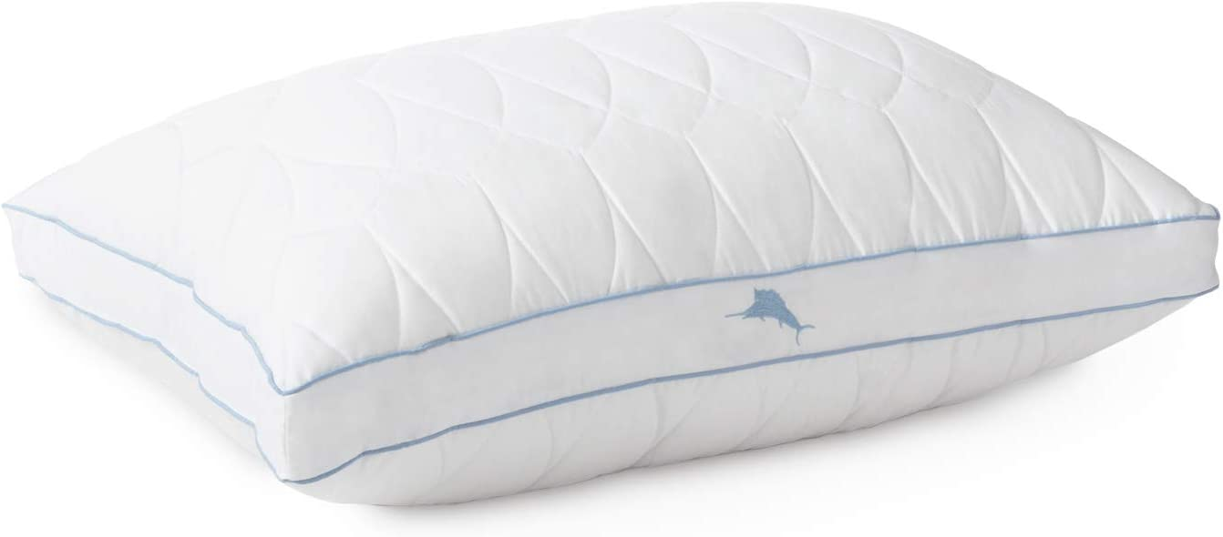DOWNLITE Tommy Bahama Cooling Nights Pillow - Cool Touch Fabric Blend Feels Great (Jumbo (20 x 28))