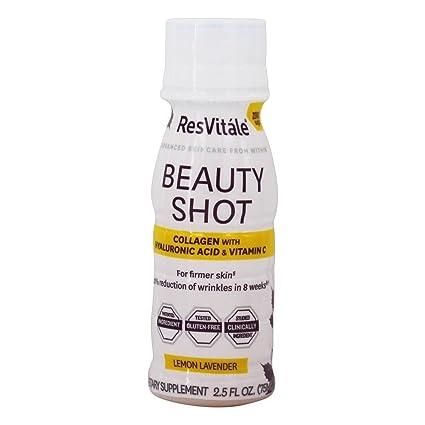 ResVitale - Belleza colágeno Shot con ácido hialurónico y vitamina C limón lavanda - 2.5 la