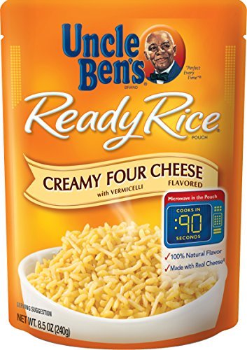 (Uncle Ben's Ready Rice: Creamy Four Cheese Rice , Ready to Heat 8.5 Oz Pouches, Pack of 6 )