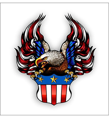 Crest Bald Eagle Flag Sticker
