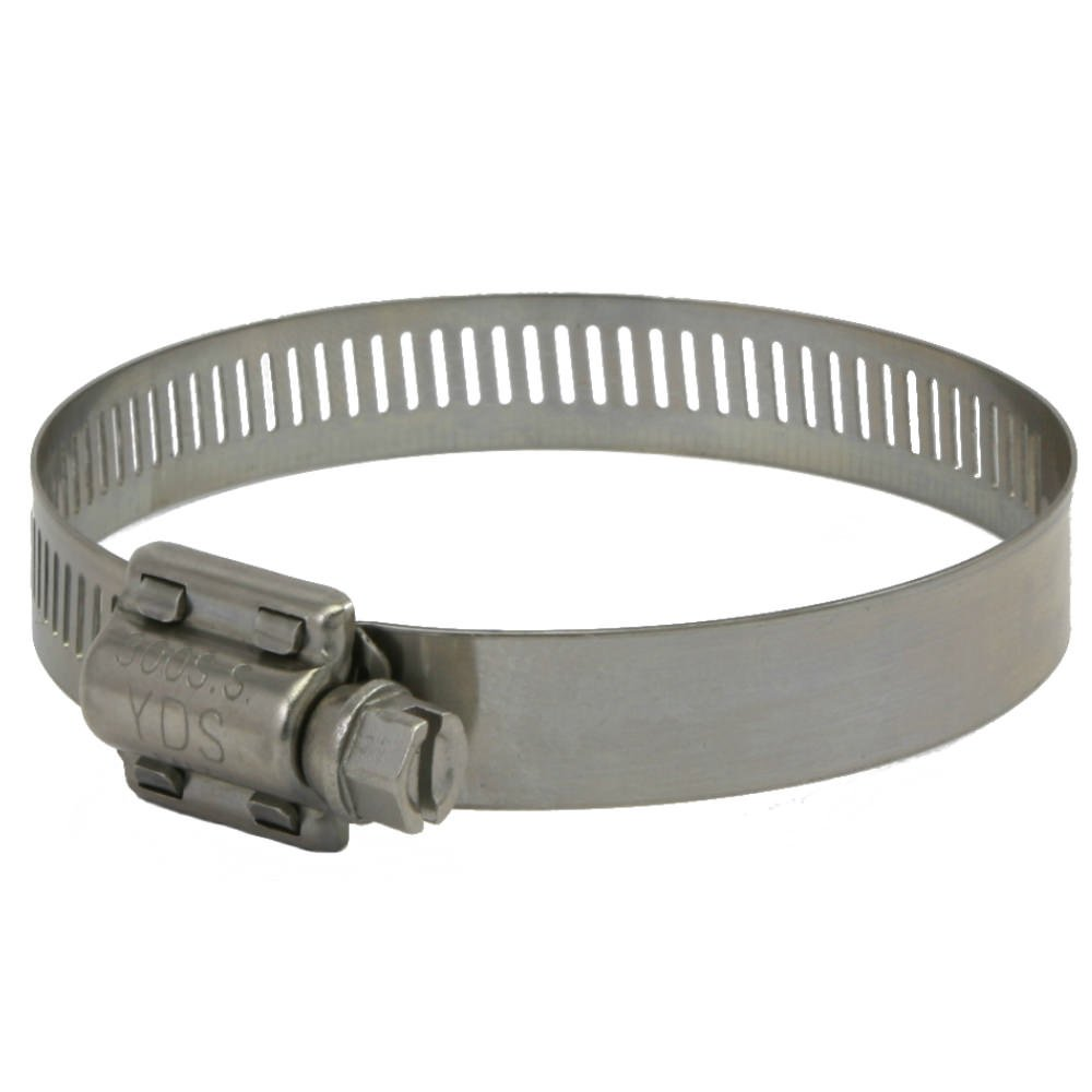 SAE Size 56 1//2 Bandwidth 3 to 4 Diameter Range YDS All 300 Grade Stainless Steel High Torque Hose Clamp Pack of 10 Worm Drive