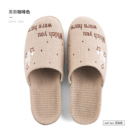 40 Women Brown Thick and Spring The Straw fankou in Furniture 41 of Nation with Cool and Slippers Men Home Bedroom Flax Summer Slippers Flat UwS1gxqO