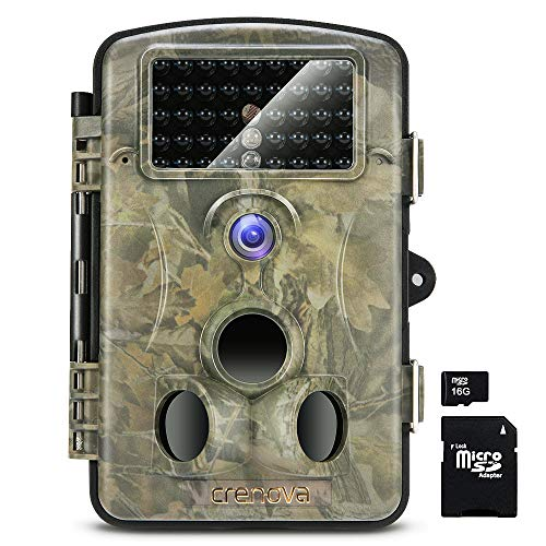 Crenova RD1000 Infrared Night Vision Waterproof Hunting Trail Game Camera with 3 PIR...